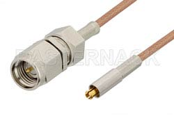 SMA Male to MC-Card Plug Cable Using RG178 Coax, RoHS