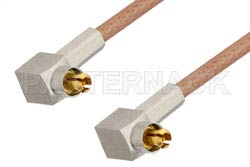 MC-Card Plug Right Angle to MC-Card Plug Right Angle Cable Using RG178 Coax, RoHS