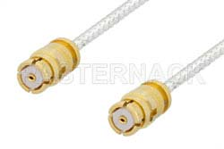 SMP Female to SMP Female Cable Using PE-SR047FL Coax, RoHS