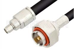 SMA Male to 7/16 DIN Male Cable Using RG213 Coax
