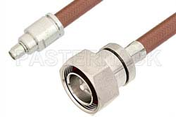 SMA Male to 7/16 DIN Male Cable Using RG393 Coax