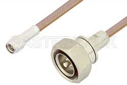 SMA Male to 7/16 DIN Male Cable Using RG400 Coax