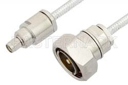 SMA Male to 7/16 DIN Male Cable Using PE-SR401FL Coax