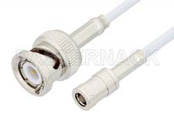 SMB Plug to BNC Male Cable Using RG188 Coax, RoHS