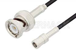 SMB Plug to BNC Male Cable Using RG174 Coax