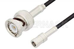 SMB Plug to BNC Male Cable Using RG174 Coax, RoHS