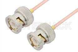 BNC Male to BNC Male Cable Using RG405 Coax, RoHS