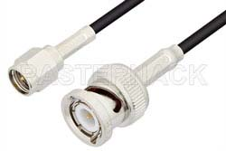 SMA Male to BNC Male Cable Using RG174 Coax