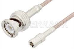 SMB Plug to BNC Male Cable Using RG316 Coax, RoHS