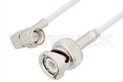 SMA Male Right Angle to BNC Male Cable Using RG188 Coax