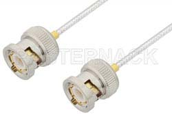 BNC Male to BNC Male Cable Using PE-SR405FL Coax, RoHS