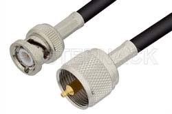 UHF Male to BNC Male Cable Using RG223 Coax