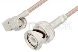 SMA Male Right Angle to BNC Male Cable Using RG316 Coax, RoHS