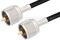 UHF Male to UHF Male Cable Using PE-C240 Coax