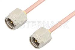 SMA Male to SMA Male Cable Using RG405 Coax, RoHS