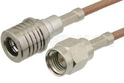 SMA Male to QMA Male Cable Using RG316-DS Coax
