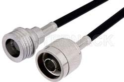 N Male to QN Male Cable Using RG223 Coax