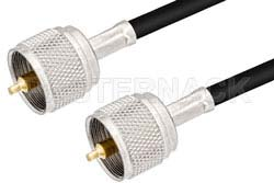 UHF Male to UHF Male Cable Using PE-C195 Coax