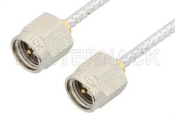 SMA Male to SMA Male Cable Using PE-SR405FL Coax, RoHS