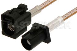 Black FAKRA Plug to FAKRA Jack Cable Using RG316 Coax