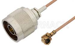 N Male to UMCX Plug Cable Using RG178 Coax