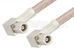 SMC Plug Right Angle to SMC Plug Right Angle Cable Using RG316 Coax