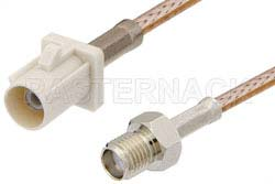 SMA Female to White FAKRA Plug Cable Using RG316 Coax