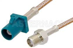 SMA Female to Water Blue FAKRA Plug Cable Using RG316 Coax