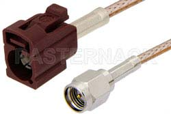 SMA Male to Bordeaux FAKRA Jack Cable Using RG316 Coax