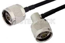 N Male to N Male Right Angle Cable Using PE-SR402FLJ Coax
