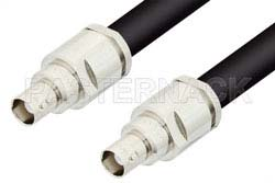 BNC Female to BNC Female Cable Using RG214 Coax, RoHS