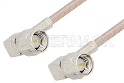 SMA Male Right Angle to SMA Male Right Angle Cable Using RG316-DS Coax, RoHS