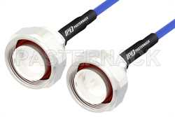 7/16 DIN Male to 7/16 DIN Male LSZH Jacketed Low PIM Cable Using SR402FLJ Low PIM Coax with HeatShrink, RoHS