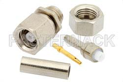 SMC Plug Connector Crimp/Solder Attachment for RG178, RG196