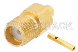 SMA Female Connector Solder Attachment for PE-SR405AL, PE-SR405FL, PE-SR405FLJ, RG405