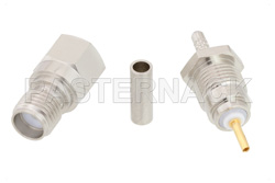 SMA Female Connector Crimp/Solder Attachment for RG178, RG196