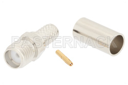 SMA Female Connector Crimp/Solder Attachment for RG55, RG142, RG223, RG400, RG141