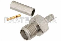 SMA Female Connector Crimp/Solder Attachment for RG188-DS, RG316-DS