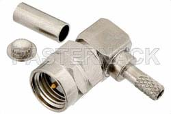 RT SMA Male Right Angle Connector Crimp/Solder Attachment For RG174, RG316, RG188