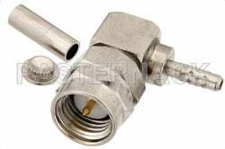 RT SMA Male Right Angle Connector Crimp/Solder Attachment for RG178, RG196