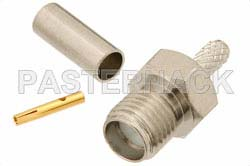 RT SMA Female Connector Crimp/Solder Attachment For RG174, RG316, RG188