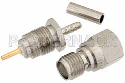 RT SMA Female Connector Crimp/Solder Attachment For RG178, RG196