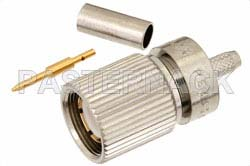 75 Ohm 1.6/5.6 Plug Connector Crimp/Solder Attachment For RG179, RG187