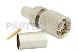 75 Ohm 1.6/5.6 Plug Connector Crimp/Solder Attachment for RG59, RG62, RG71