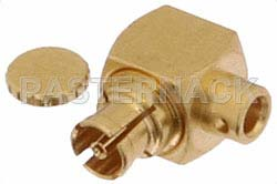 Mini SMP Female Right Angle Connector Solder Attachment for PE-047SR, PE-SR047AL, PE-SR047FL