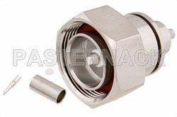7/16 DIN Male Connector Crimp/Solder Attachment for PE-C195, PE-P195, RG58, RG141, RG303, LMR-195, 0.195 inch