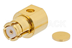 SMP Female Right Angle Connector Solder Attachment For PE-047SR, PE-SR047AL, PE-SR047FL, Up To 8 GHz
