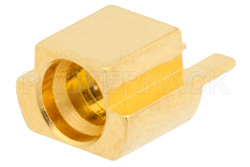 SMP Male Limited Detent Connector Solder Attachment End Launch PCB, Up To 8 GHz