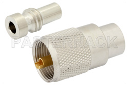 UHF Male Connector Solder Attachment For RG58, RG303, RG141, PE-C195, PE-P195, LMR-195