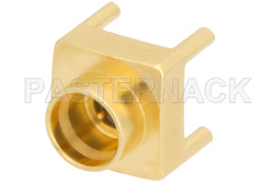 SMP Male Connector Solder Attachment Thru Hole PCB, Up To 8 GHz Smooth Bore